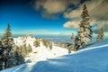 Amazing ski resort in the Carpathians,Poiana Brasov,Romania,Europe Royalty Free Stock Photo