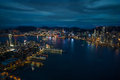 Amazing skyline of hong kong view taken from sky Stock Photo