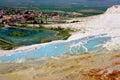 Amazing soda sodium bicarbonate geological deposits of in the area of pamukkale turkey Stock Images