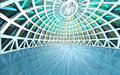 Amazing spiritual architectural swiming pool dome Royalty Free Stock Images