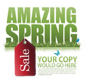 Amazing spring sale marketing template eps Stock Image