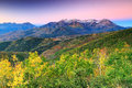 Amazing sunrise in the wasatch mountains fall morning scene usa Stock Photo