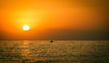 Amazing sunset over the sea Royalty Free Stock Photos