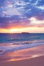 Amazing Tropical Beach Sunset, Royalty Free Stock Photo