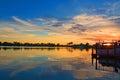 Amazing Tropical Lagoon Bay Sunrise Sunset Royalty Free Stock Photo