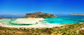 Amazing view of balos bay gramvousa crete greece Royalty Free Stock Images
