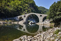 Amazing view of Devil`s Bridge, Rhodopes mountain and Arda river, Bulgaria Royalty Free Stock Photo