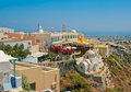 Amazing view of Fira on Santorini Royalty Free Stock Image