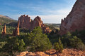 Amazing View of Garden of the Gods Stock Image