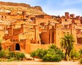 Amazing view of Kasbah Ait Ben Haddou near Ouarzazate in the Atlas Mountains of Morocco. UNESCO World Heritage Site since 1987. Royalty Free Stock Photo