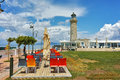 Amazing view of Lighthouse in Patras, Peloponnese Royalty Free Stock Photo