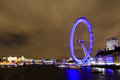 Amazing view of London Eye at night Royalty Free Stock Photography
