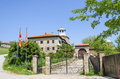Amazing view on the monastery and church complex lesnovo macedonia xiv century Royalty Free Stock Photo