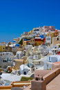 Amazing view of Oia in Santorini Royalty Free Stock Photos