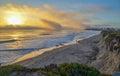 Amazing view of Pacific coast near Santa Barbara, California Royalty Free Stock Photo