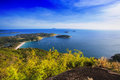 Amazing view of steep cliff and ocean at phuket Stock Photos