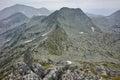 Amazing view to Momin Dvor peak from Dzhangal Peak, Pirin mountain