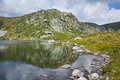 Amazing view of The Trefoil lake, Rila Mountain, The Seven Rila Lakes Royalty Free Stock Photo