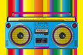 Amazing vintage ghettoblaster cassette tape color colorful vector illustration of a fantastic retro Royalty Free Stock Images