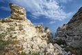 Amazing weathering rocks in djangul national park crimea Stock Images