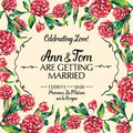 Amazing wedding invitation in watercolor vector illustration Royalty Free Stock Photo