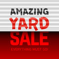 Amazing Yard Sale poster Royalty Free Stock Photo