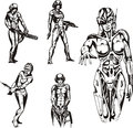 Amazon cyborgs Royaltyfria Bilder