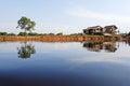 Amazon rainforest: Settlement on the shore of Amazon River near Manaus, Brazil South America Royalty Free Stock Photo