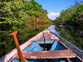Amazonian boat Stock Photography