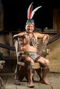 Amazonian Shaman Portrait Royalty Free Stock Photo