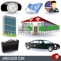 Ambassador icons Royalty Free Stock Photo