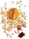 Amber beads Royalty Free Stock Photos