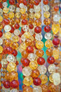 Amber beads, background Royalty Free Stock Photography