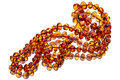 Amber beads with reflection Stock Images