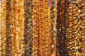 Amber beautiful beads Royalty Free Stock Photo