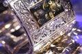 Amber bracelet Stock Photography