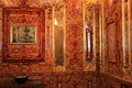 Amber chamber in pushkin the russia Stock Photos