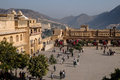 Amber fort visitors enjoying the in jaipur india Royalty Free Stock Photography