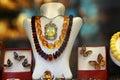 Amber jewelry beautiful made of Royalty Free Stock Image