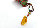 Amber jewelry for christmas a necklece made by gift Stock Photography
