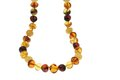 Amber jewelry necklace Image stock