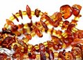 Amber necklace Stock Image
