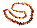 Amber necklace, isolated Royalty Free Stock Photography