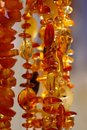 Amber Necklaces Stock Image