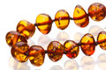 Amber rosary beads Royalty Free Stock Photography