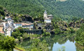 Ambialet tarn france midi pyrenees the old village on the river at summer Royalty Free Stock Photos
