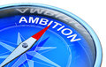 Ambition d rendering of a compass with a icon Royalty Free Stock Photo