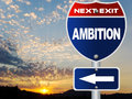 Ambition road sign Stock Photography