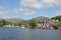 Ambleside on the edge of lake windermere cumbria uk Stock Photography
