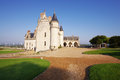 Amboise castle france september the royal chateau is the largest in the loire valley in of wide angle photo from the back Royalty Free Stock Photos